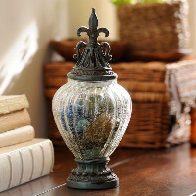 Distressed Blue Potpourri Jar 13 In Decor Home Decor