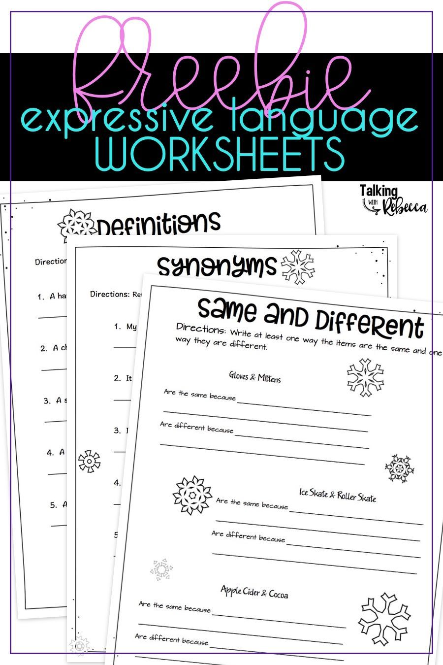 Free Worksheets For Winter Speech Therapy Language Worksheets Winter Speech Therapy Expressive Language