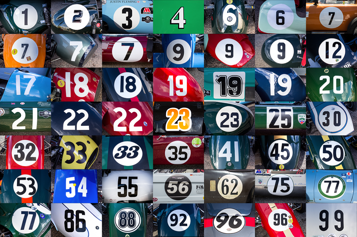 50 hr classic race car numbers by fresh design elements on creative market