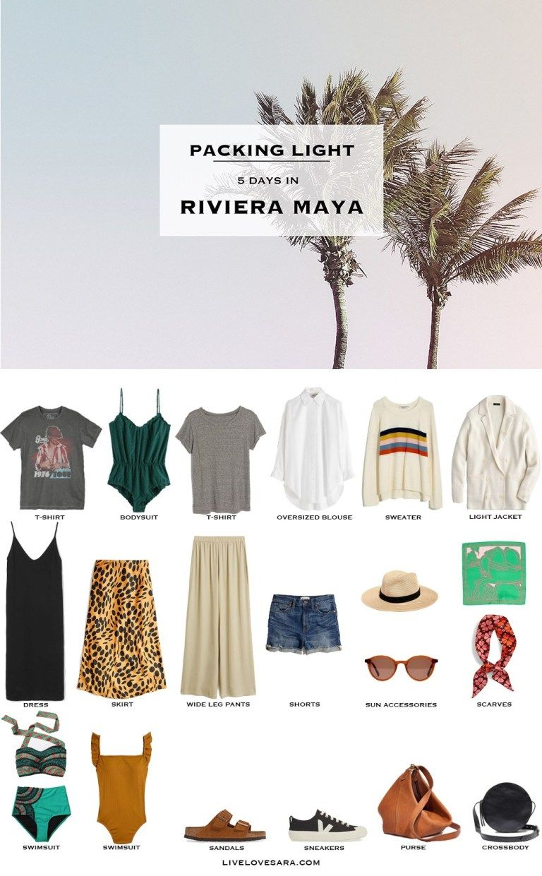 what to pack for riviera maya vacation
