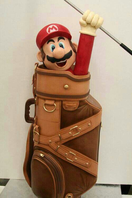 Mario golf cake... thats way beyond my experience level.