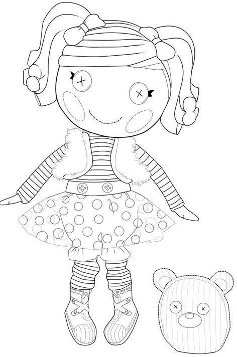 coloring sheets lalaloopsy mittens wonderful