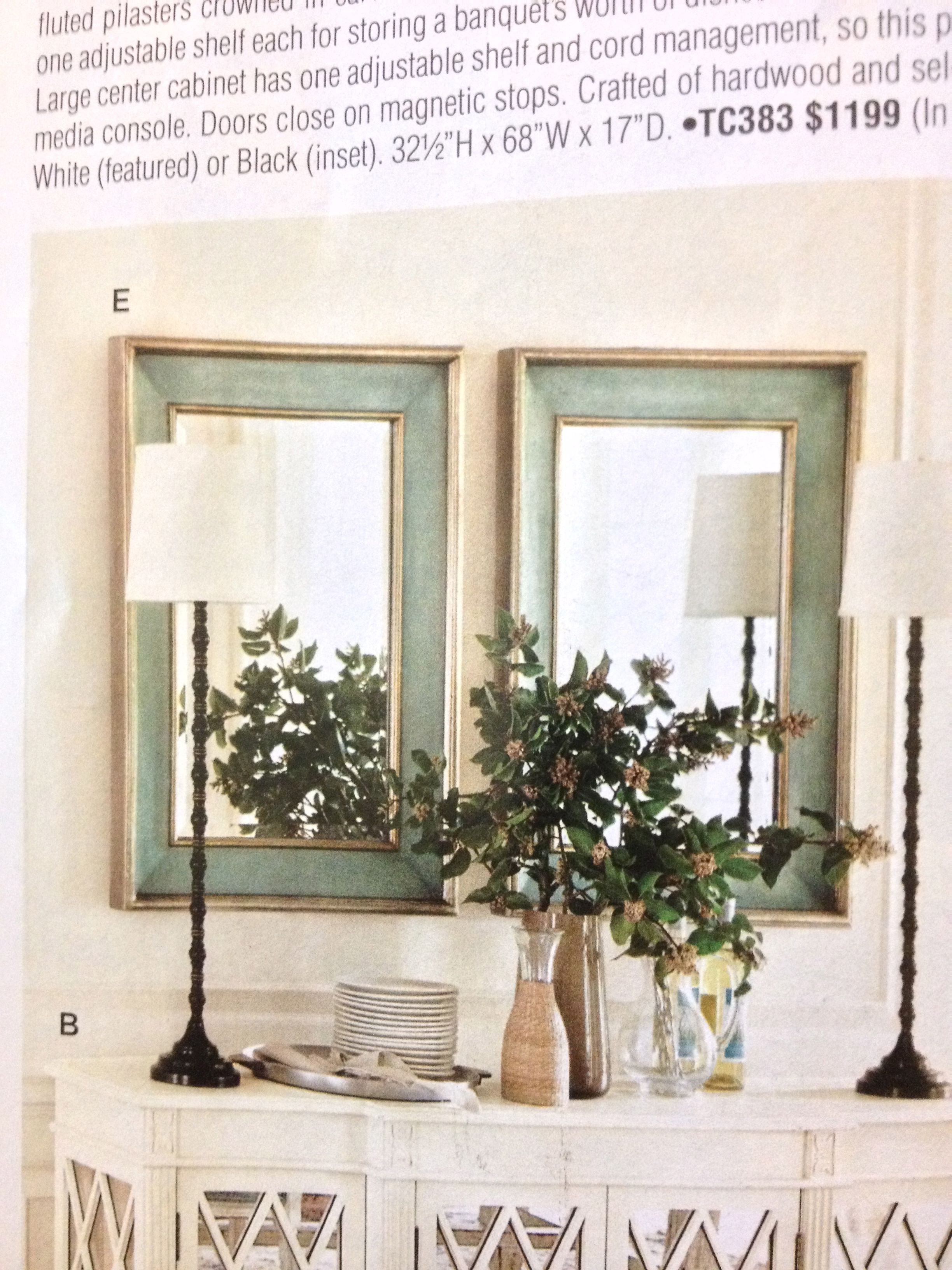 Love The Look Of These 2 Mirrors Over A Buffet Mirror Dining Room Buffet Decor Living Room Mirrors