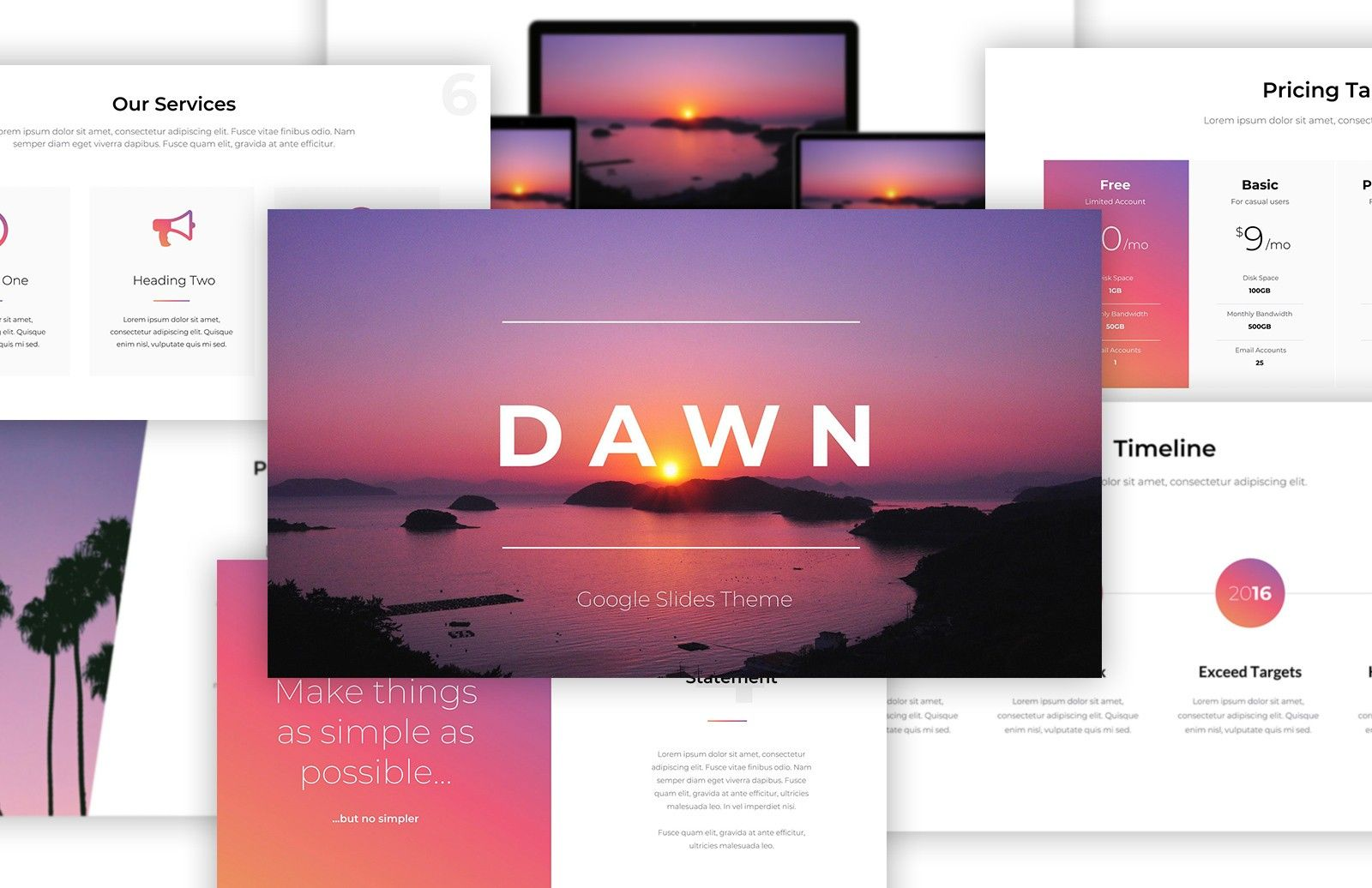 DAWN Free Google Slides Theme Slide design