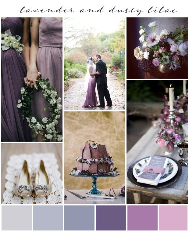 Wedding Themes And Colors: Lavender And Dusty Lilac Wedding Inspiration