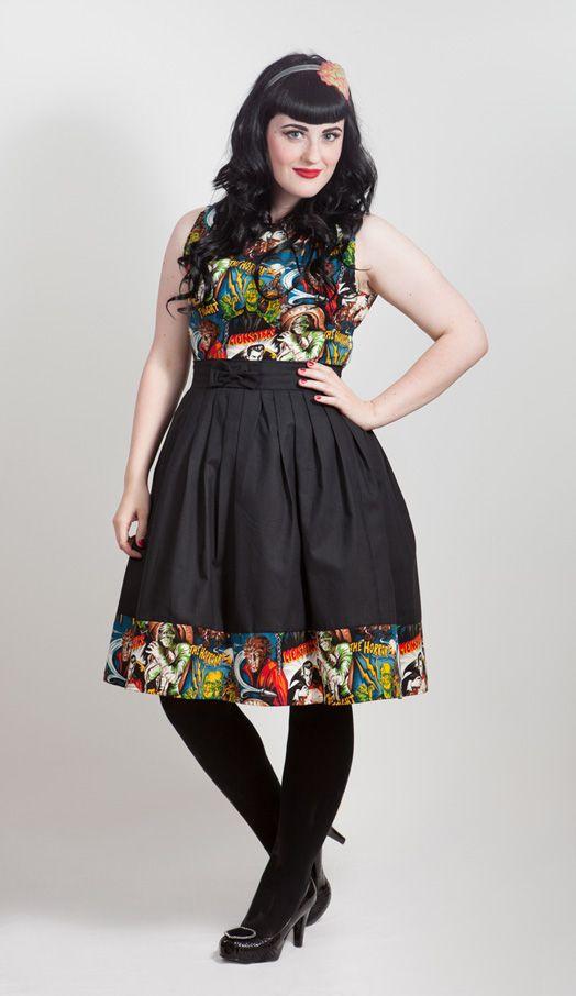 Horror Movie Monsters Dress, £79.99 http://www.emeraldangel.co.uk/horror-monsters-dress.html