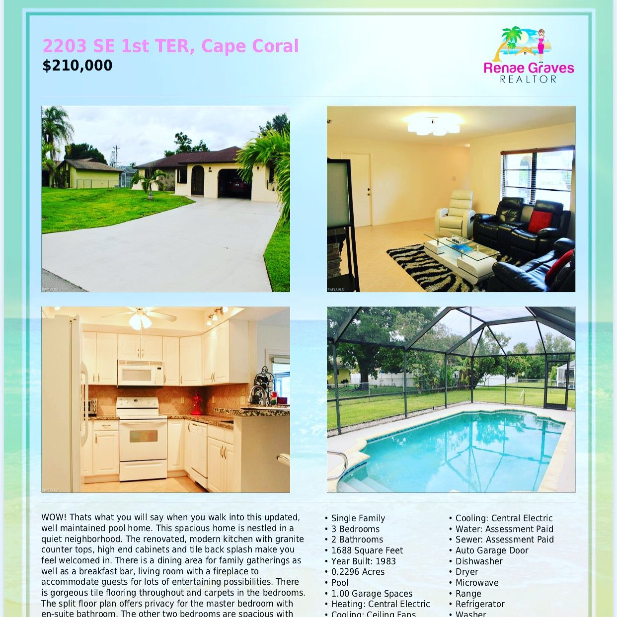 Www Capecoralfllistings Com Call Renae Graves For More Information