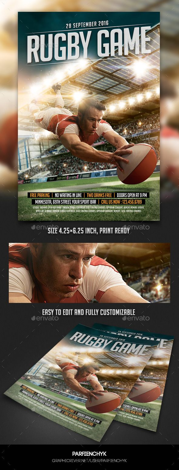 Game Sport Flyer Template