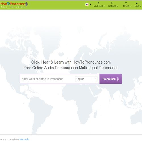 Www Howtopronounce Com A Free Online Audio Pronunciation Dictionary With Audio Pronunciation And Definition Pronunciation How To Pronounce Pronouncing English