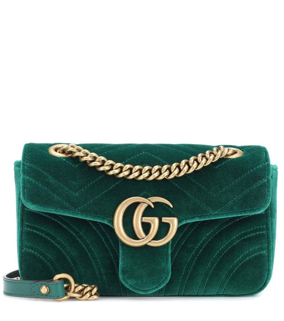 96eb9d41d3f Gucci GG Marmont Mini velvet shoulder bag