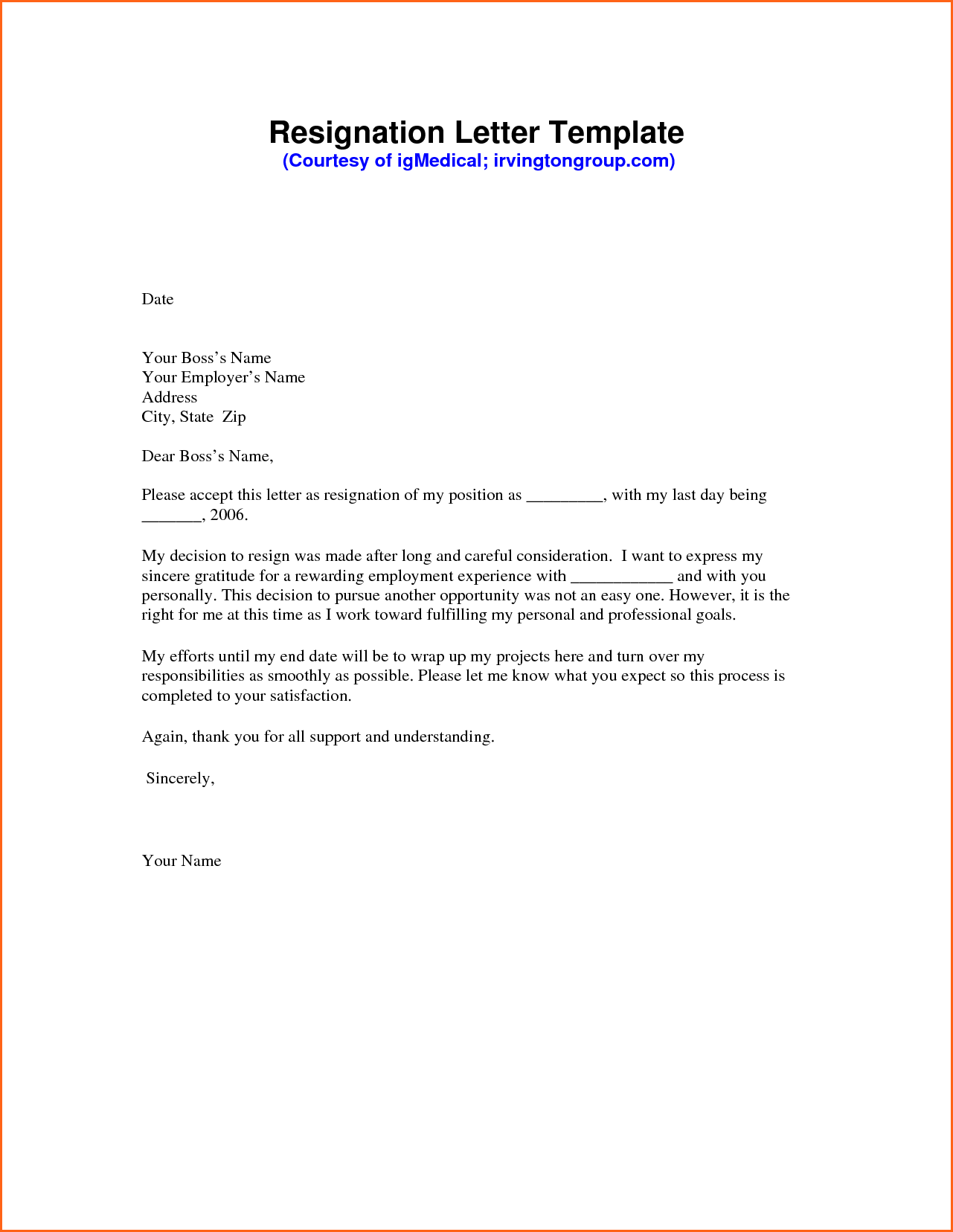 Forced Resignation Letter Sample