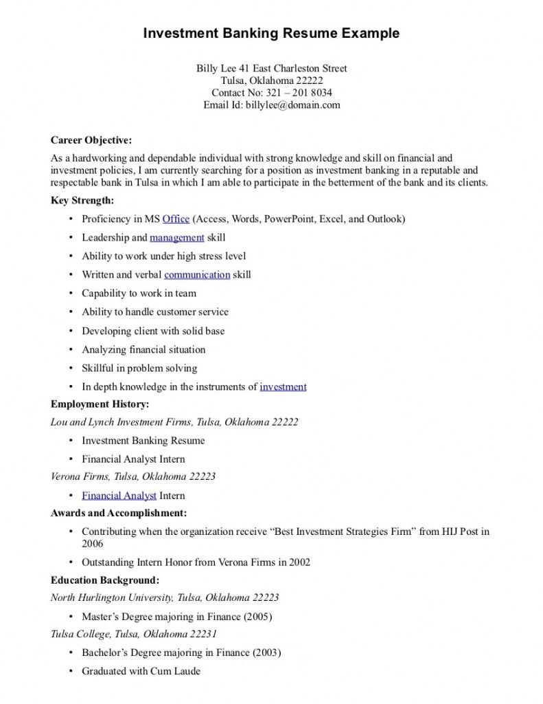 best objectives for resume