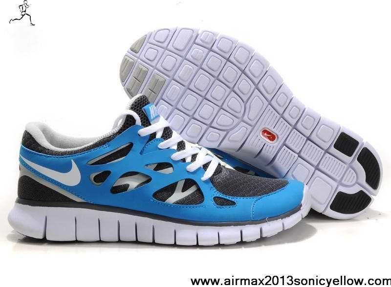 Nike Free Run 2 Mens Store Running Shoes Blue/Black/White