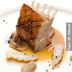 Photo of Roasted suckling pig loin glazed with coffee honey …
