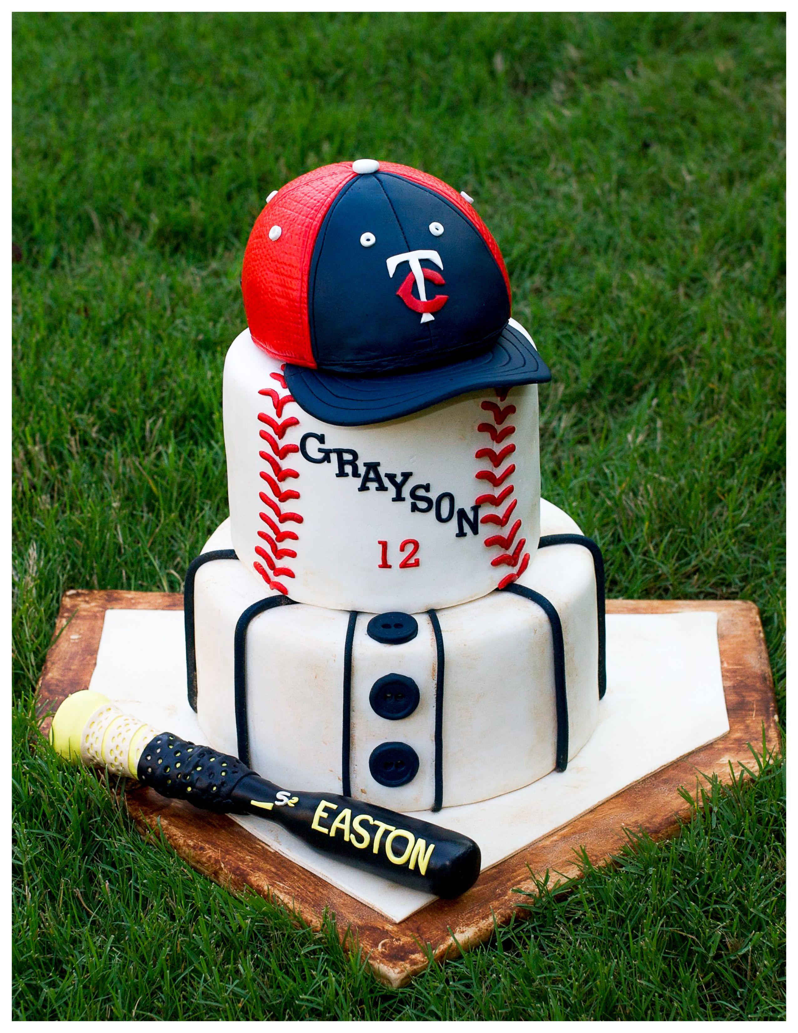 Baseball Theme Cake Xaviers birthday Pinterest Baseball theme