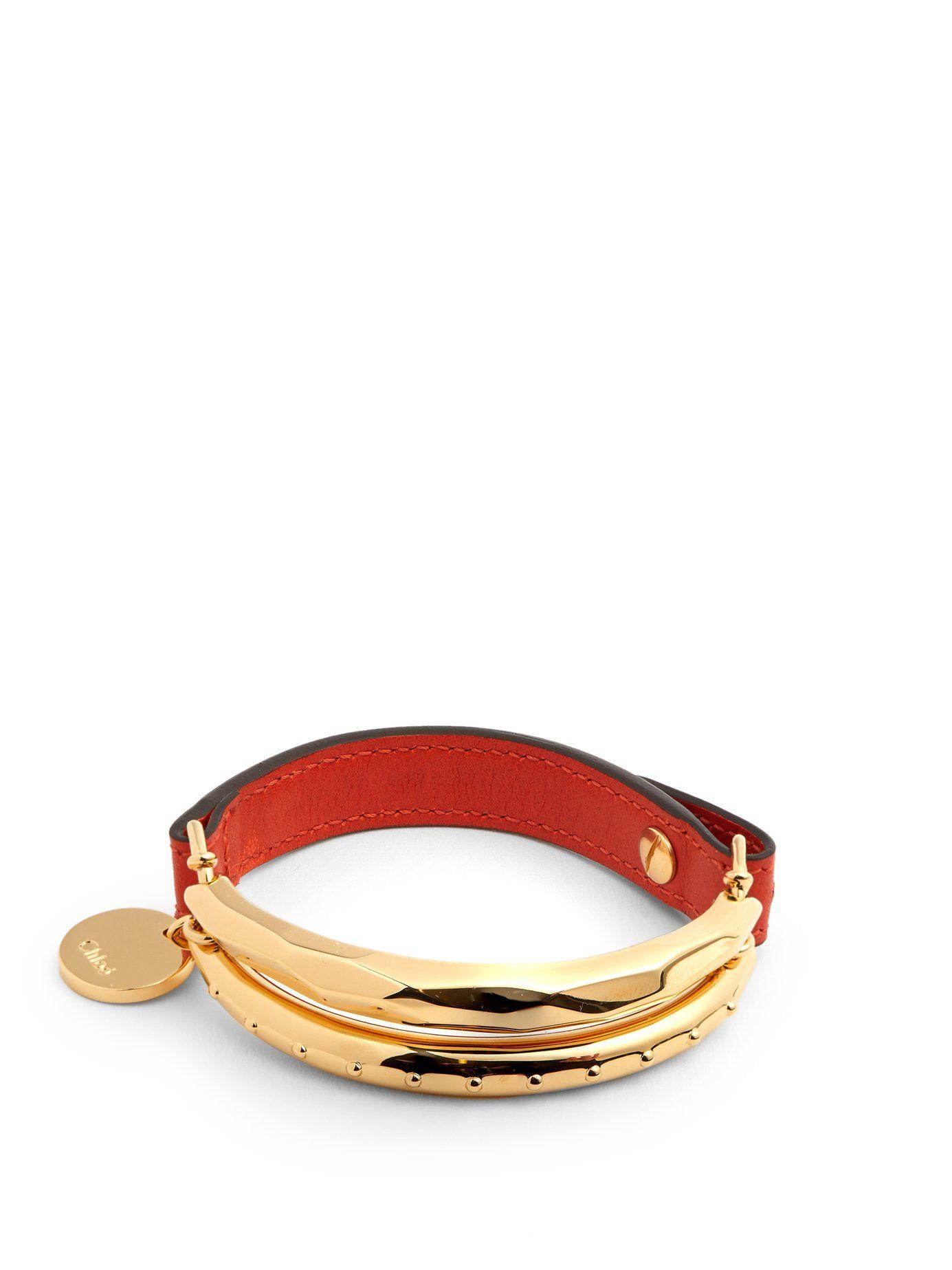Chloé Nile leather bracelet SRP3Tmo