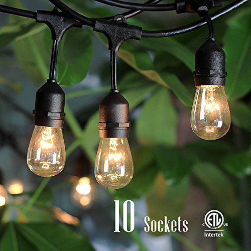 Garden String Lights Outdoor String Lights With 10 Dropped Sockets Shine Hai Ullisted For