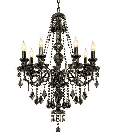 Love this jet black crystal seven light chandelier by gallery love this jet black crystal seven light chandelier by gallery lighting on zulily aloadofball Image collections
