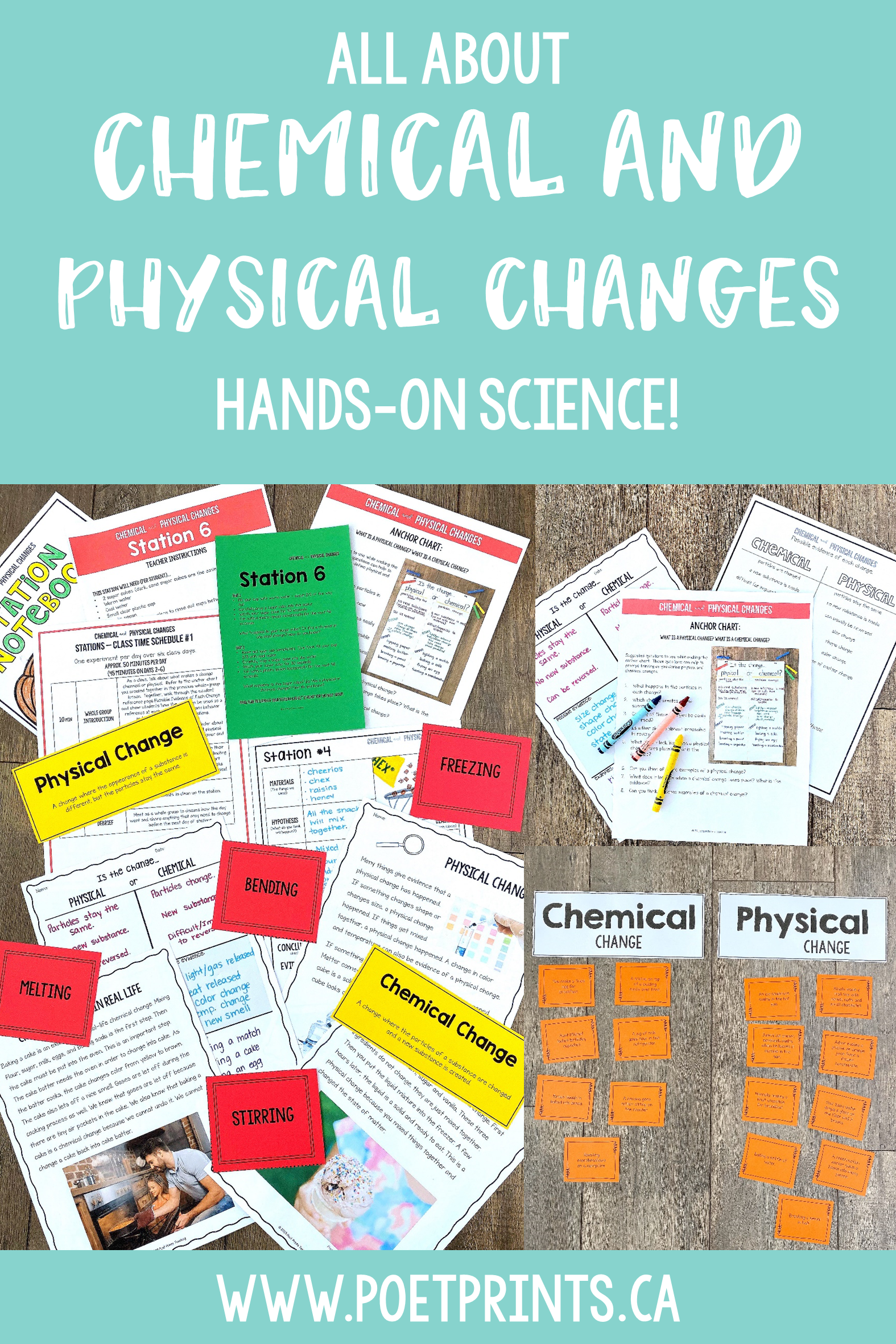 Chemical And Physical Changes Science Stations With
