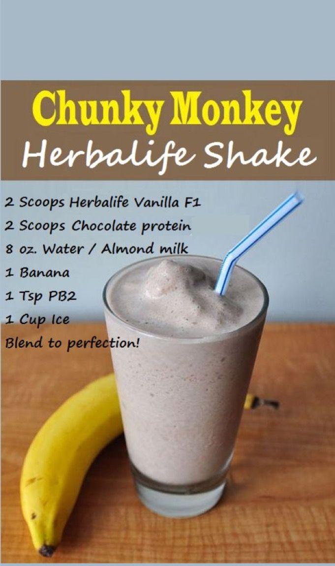 Herbalife S Chunky Monkey Shake Herbalife Shake Recipes Herbalife Herbalife Recipes