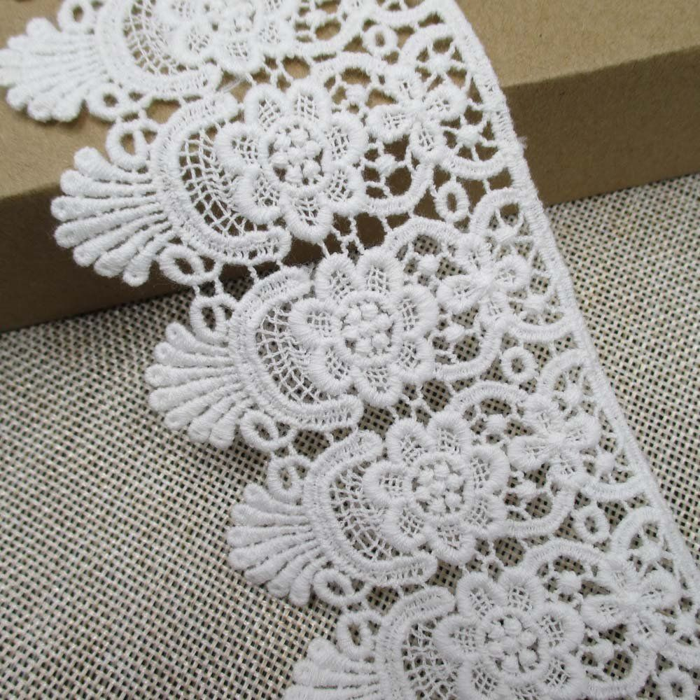 Decorative Fabric Trim Cotton Embroidered Lace Trims Eyelet Fabric Sewing Supply Garment