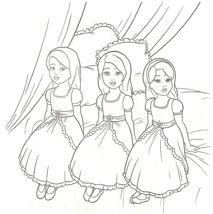 barbie girls coloring pages - photo#27