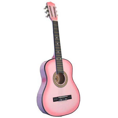 Directly Cheap Half Size Acoustic Toy Guitar For Kids 32 Pink Walmart Com Guitar Kids Acoustic Guitar Pink Guitar