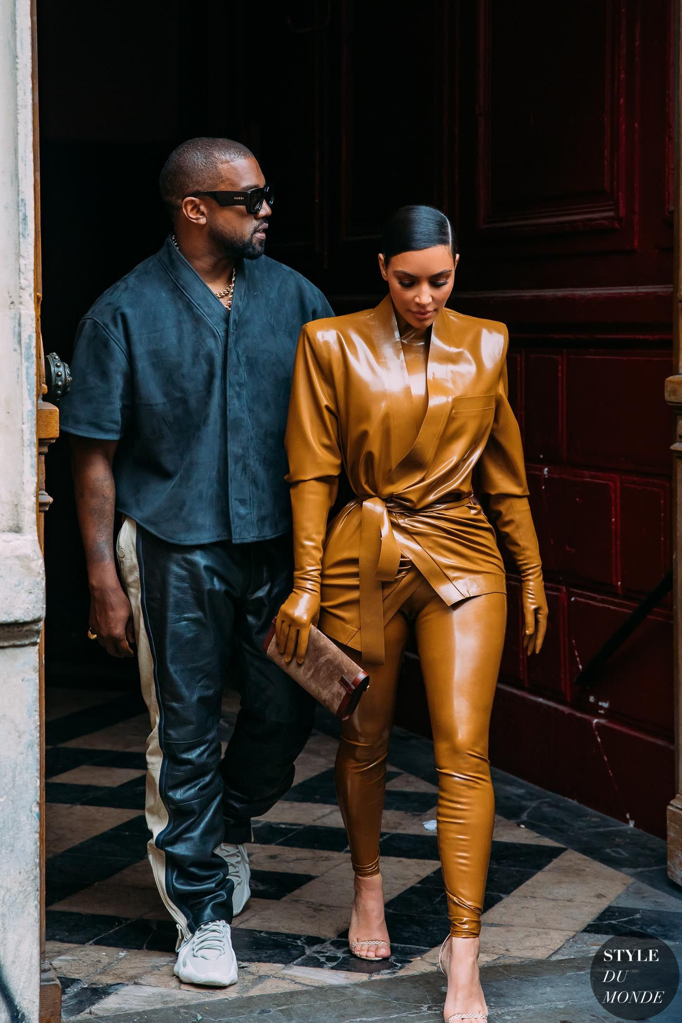 Paris Fw 2020 Street Style Kanye West And Kim Kardashian Style Du Monde Street Style Street Fashion In 2020 Street Fashion Photos Street Style Kanye West And Kim