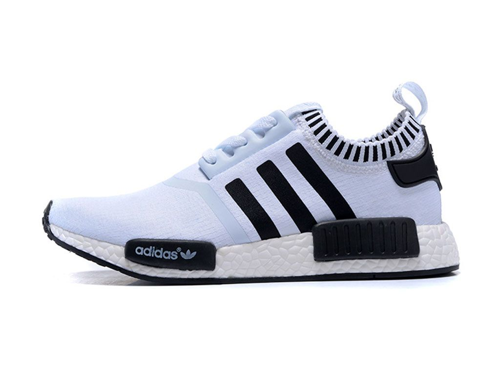 adidas originals nmd chaussure nmd runner pas cher pour homme blanc noir. Black Bedroom Furniture Sets. Home Design Ideas