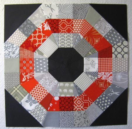 Octagonal Orb Block from Modern Quilt Guild (Tutorial for this and other blocks on link)