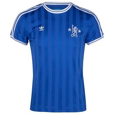 Adidas Originals Chelsea Retro T Shirt Cfc Reflex Blue T Shirts