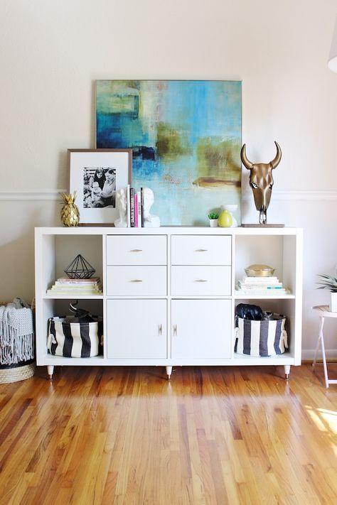 19 magn ficas ideas para decorar tu casa utilizando estanter as de una forma diferente - Scaffali ufficio ikea ...