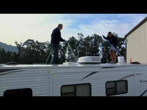 Rv Caulking Sealing Things Up Youtube Roof Maintenance Roof Cleaning Travel Trailer Remodel
