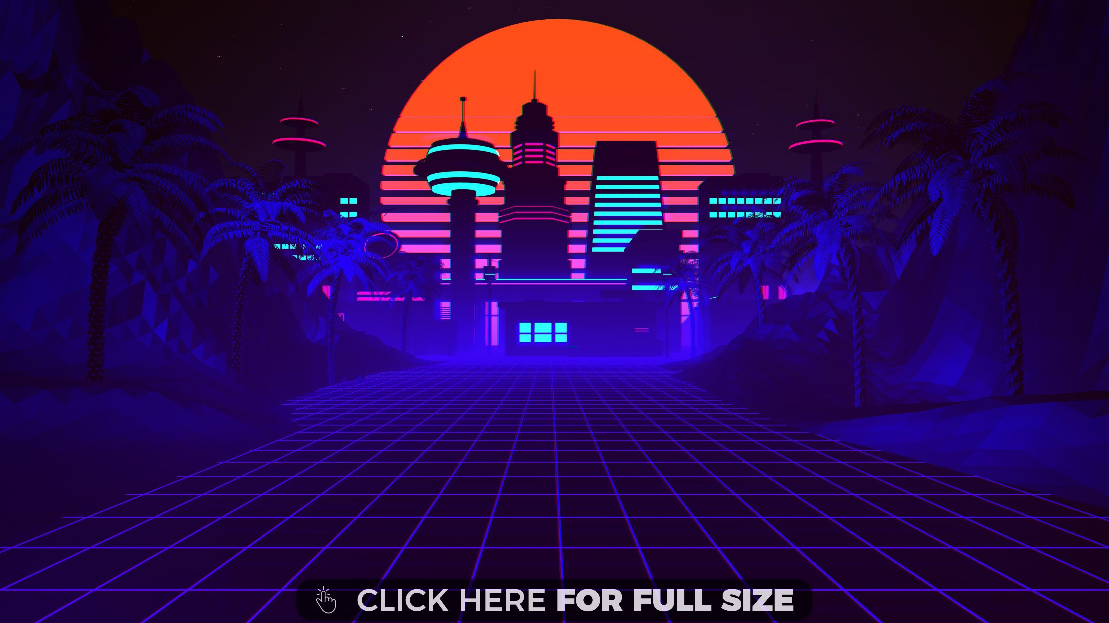 80s Synthwave And Retrowave Illustration Premium 4k Wallpaper Synthwave Retro Style Art Art Wallpaper