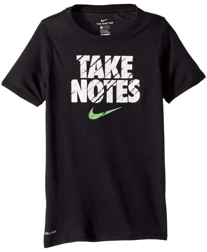 ea9403a9 Nike Dry Training T-Shirt Take Notes Boy's T Shirt | T-Shirt ...