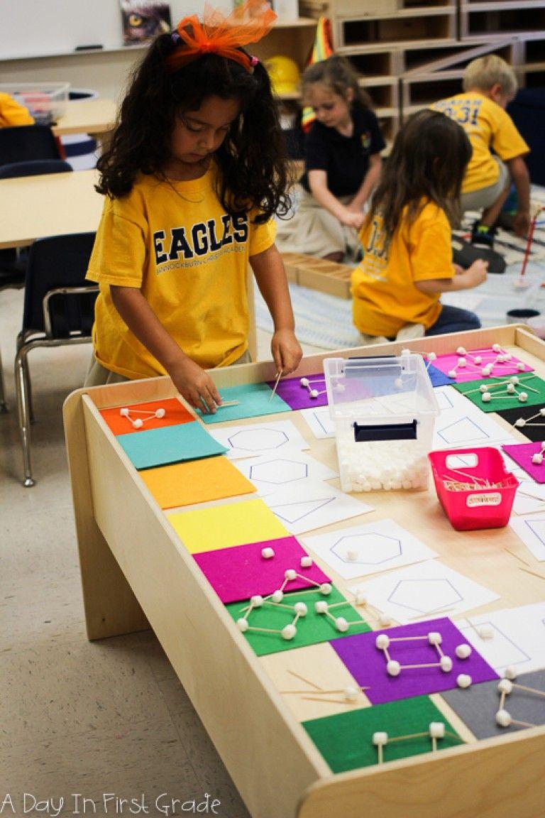 kindergarten student explores making two dimensional