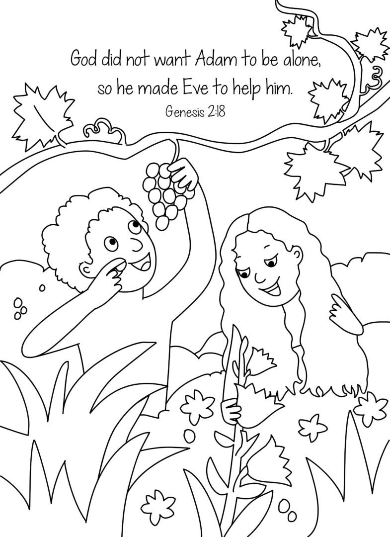 Adam And Eve Coloring Pages Creation Coloring Pages