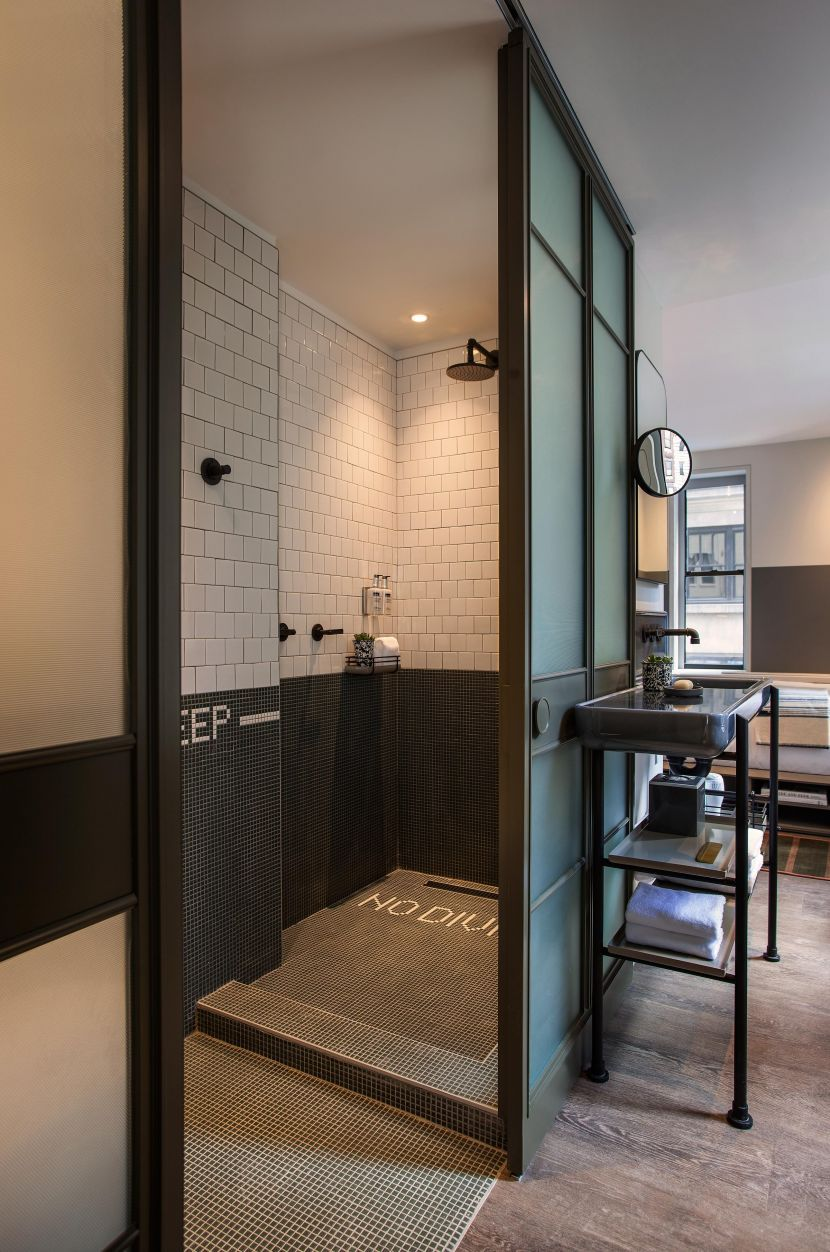 Hotel Guest Room Design: Hotel Room In The Moxy Times Square Hotel