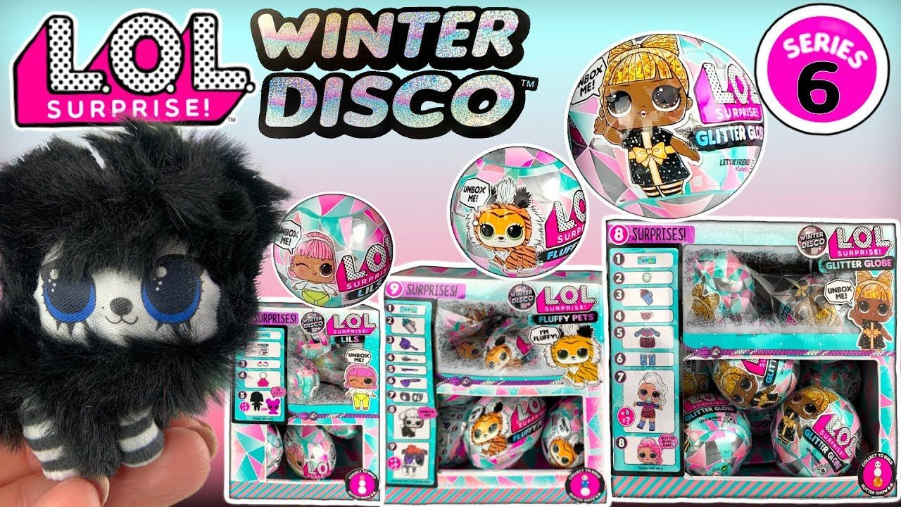 LOL WINTER DISCO! LOL Surprise Series 6 Glitter Globe LOL