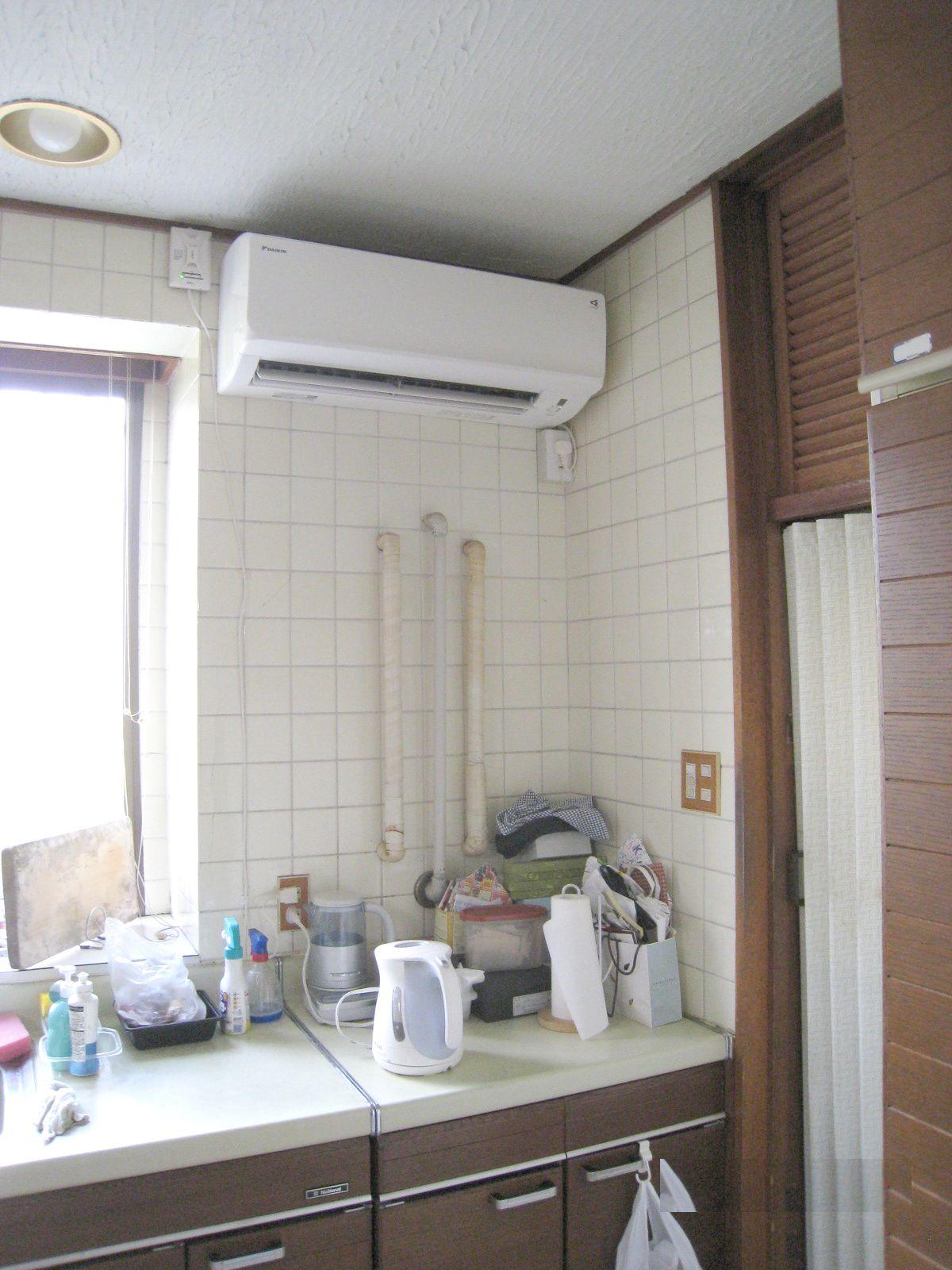 設置困難と言われた場所へエアコンを設置しました 姫路市 T様邸