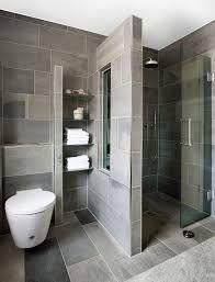 Klein Badezimmer Modern Grau