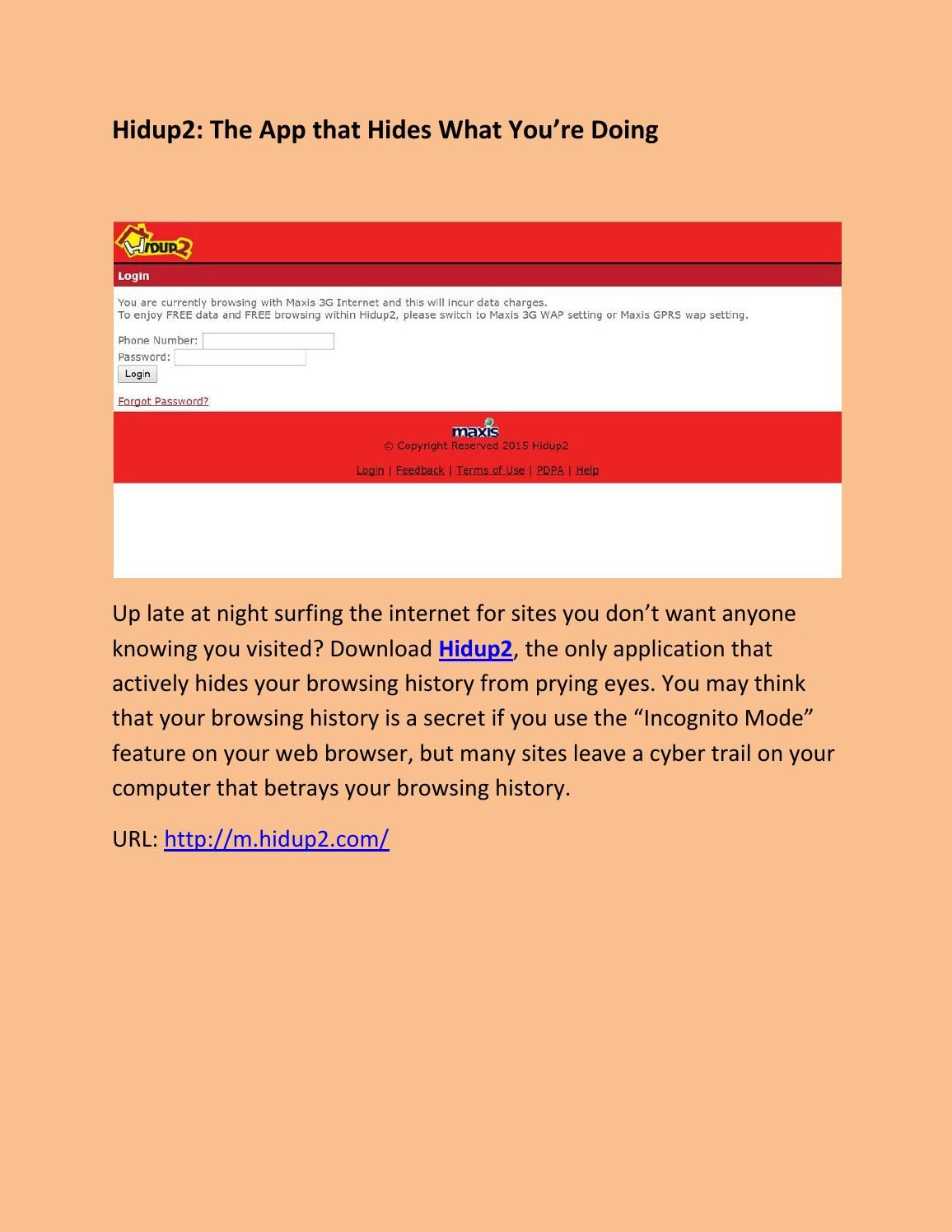 Hidup2 Keep Your Browsing History To Yourself M Hidup2 Com Browsing History App How To Know
