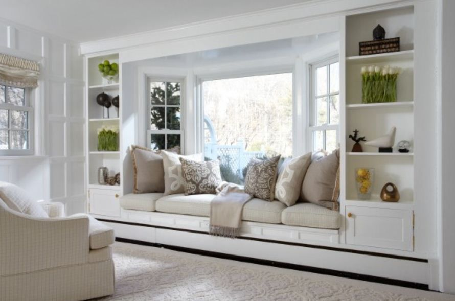30 Bay Window Decorating Ideas That Blend The Functionality And Gorgeous Decor Into Comfortable And Mode Living Room Windows Window Seat Design Bedroom Seating