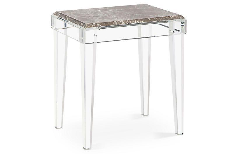 Amal Acrylic Side Table Gray Interlude Acrylic Side Table Side Table Design Grey Side Table