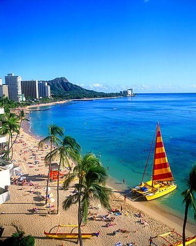Waikiki Beach, Oahu, Hawaii, United States of America, Pacific