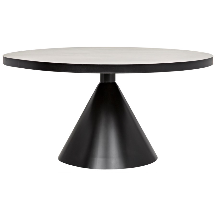 Cone Dining Table Black Metal Dining Tables Noir Black