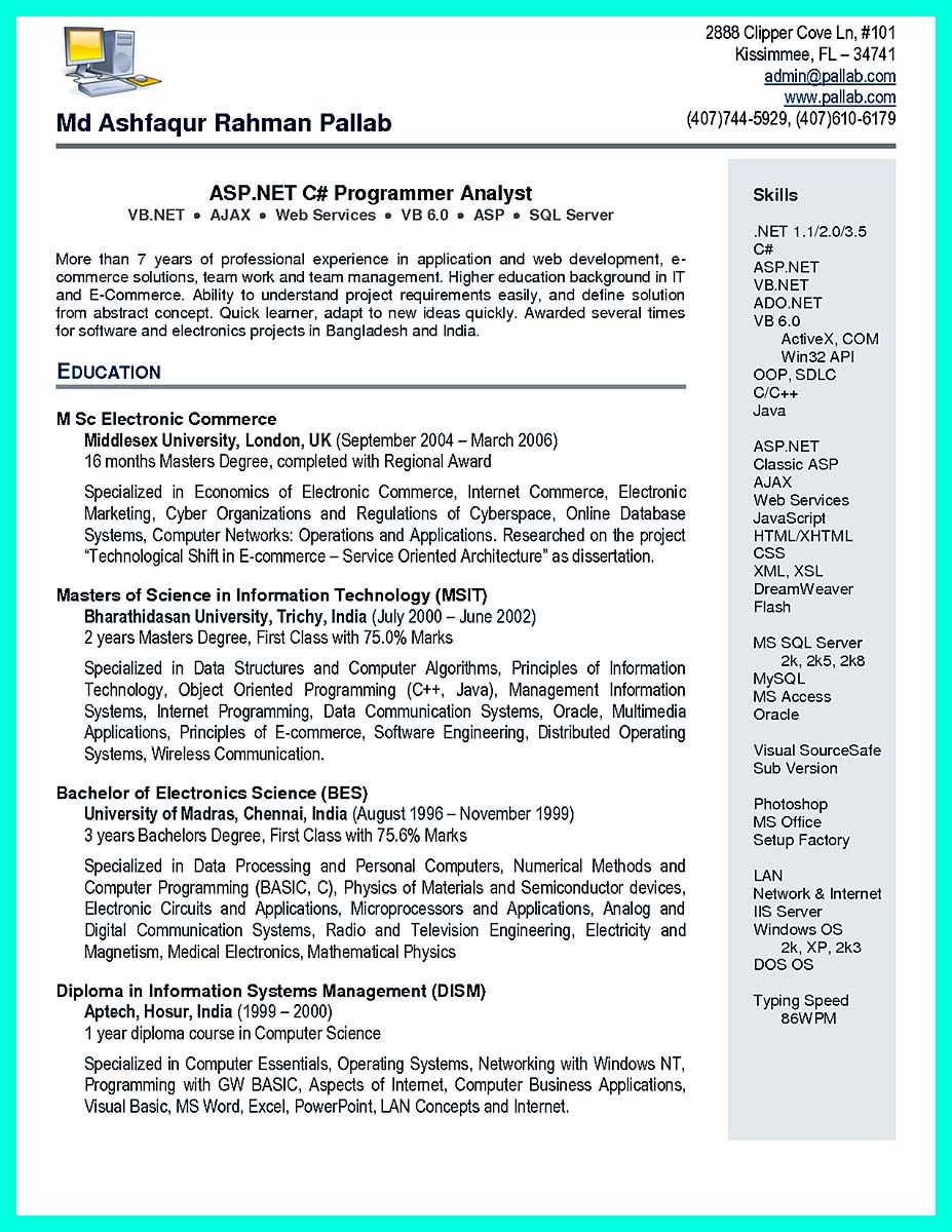 nice the best computer science resume sample collection check more