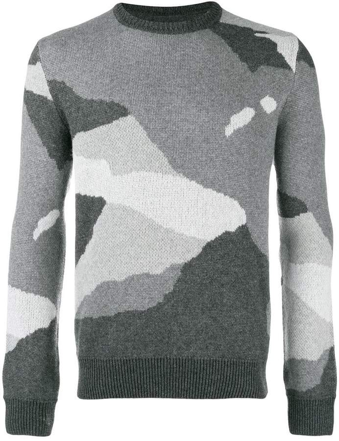 dbd0cffd844edd Woolrich camouflage knit sweater | Products | Sweaters, Knitting ...