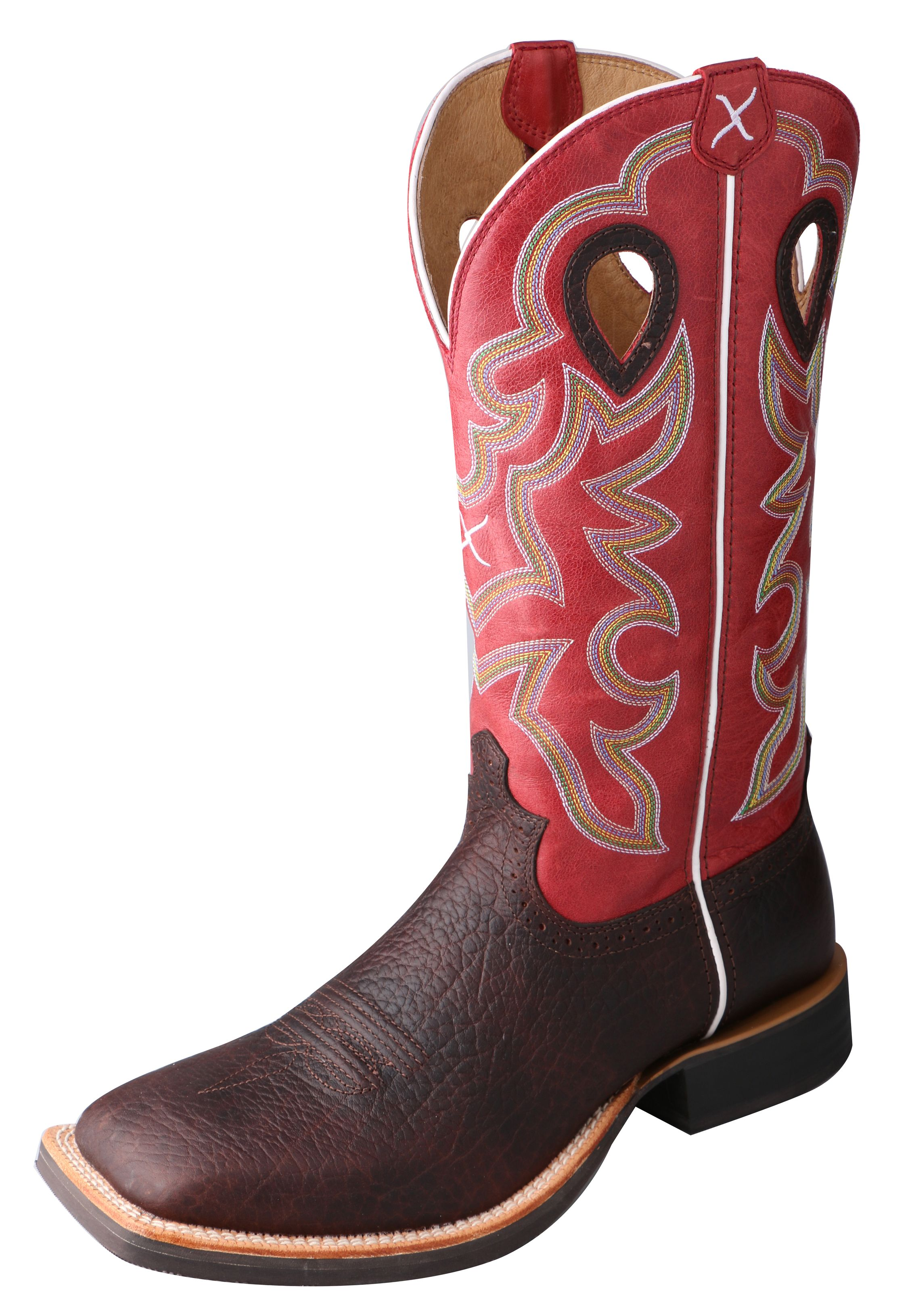 Twisted X Western Boots Mens Ruff Stock Oiled Cognac Red