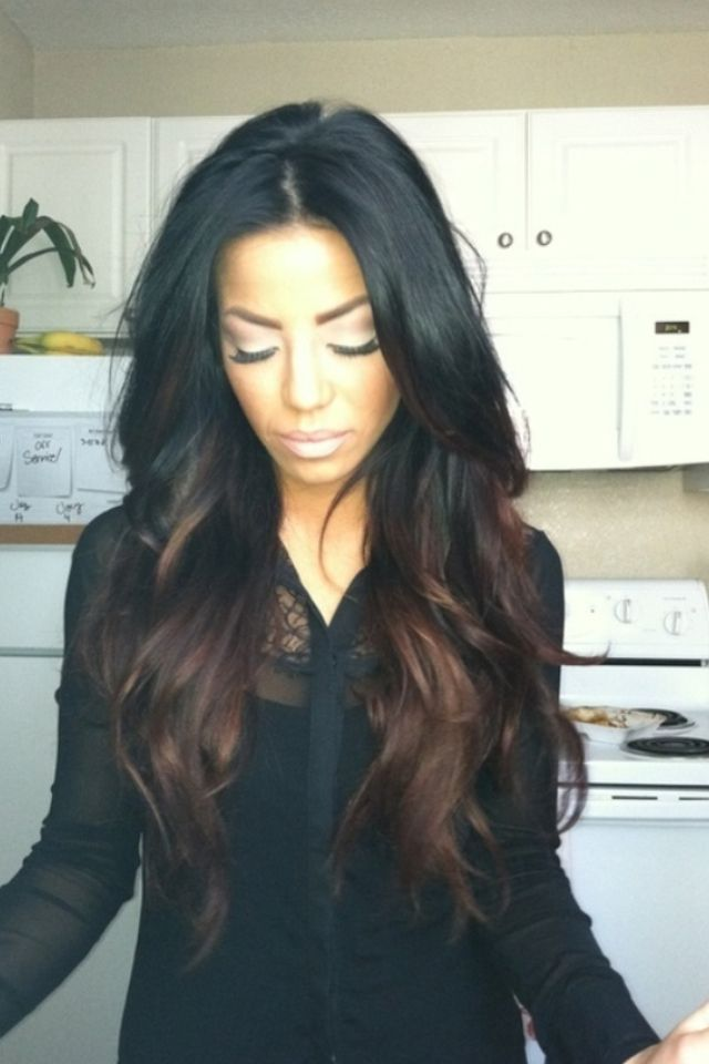 This Is Different Black Flowing Into Brown I Love It Idk This